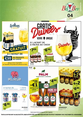Folder BelBev du 27/04/2018 au 09/05/2018 - promotions de la semaine