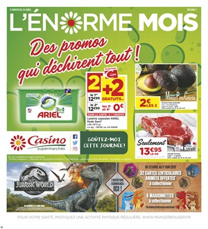 Folder Géant Casino du 24/04/2018 au 06/05/2018 - promotions de la semaine