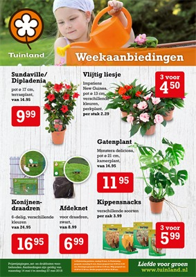 Tuinland folder van 14/05/2018 tot 27/05/2018 - Weekaanbiedingen
