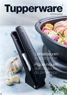 Tupperware folder van 07/05/2018 tot 03/06/2018 - maandpromoties