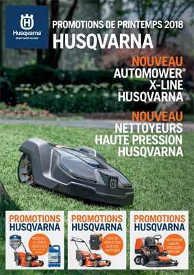 Folder Husqvarna du 01/05/2018 au 30/06/2018 - Promotions du printemps