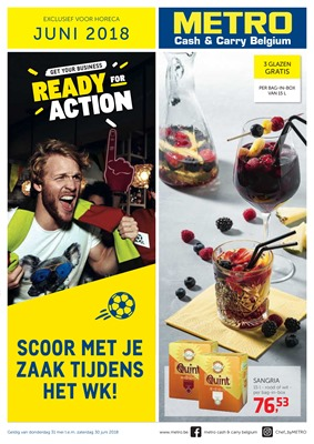 Metro folder van 01/06/2018 tot 30/06/2018 - maandpromoties