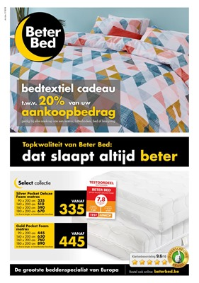 BeterBed  folder van 04/06/2018 tot 01/07/2018 - maandpromoties