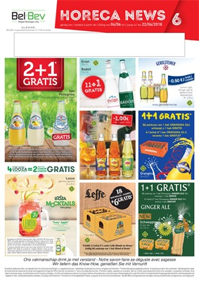 Folder Bel Bev du 04/06/2018 au 22/06/2018 - promotions de la semaine