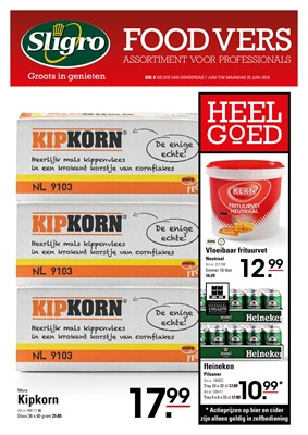Sligro folder van 07/06/2018 tot 25/06/2018 - sligro foodvers