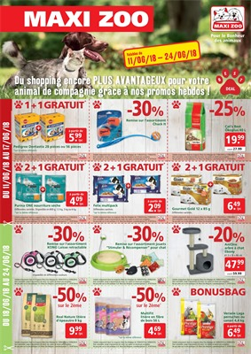 Folder Maxi Zoo du 11/06/2018 au 24/06/2018 - coupons de réductions juin
