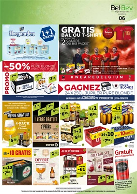Folder BelBev du 15/06/2018 au 28/06/2018 - promotions de la semaine