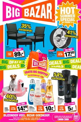 Big Bazar folder van 18/06/2018 tot 01/07/2018 - Folder tot begin juli