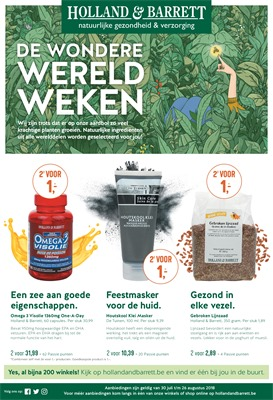 Holland & Barrett folder van 30/07/2018 tot 20/08/2018 - promoties van de week