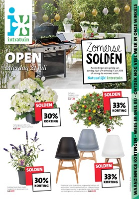 Intratuin folder van 31/07/2018 tot 05/08/2018 - promoties van de week