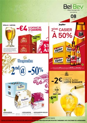 Folder BelBev du 10/08/2018 au 23/08/2018 - promotions de la semaine