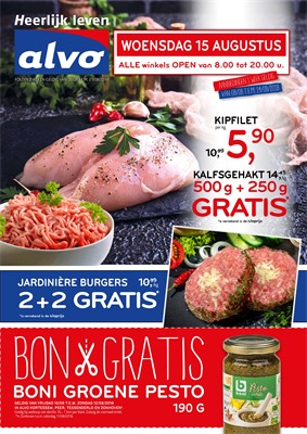Alvo folder van 08/08/2018 tot 21/08/2018 - promoties van de week