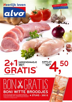 Alvo folder van 22/08/2018 tot 04/09/2018 - promoties van de week