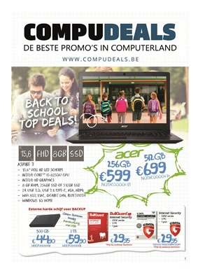 Compudeals folder van 25/08/2018 tot 30/09/2018 - Promoties van de week