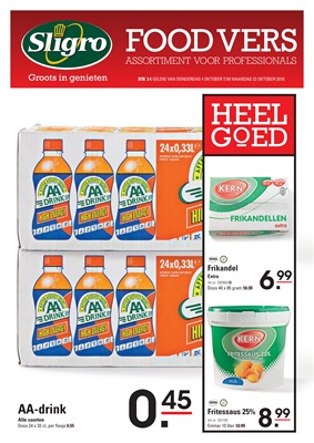 Sligro folder van 04/10/2018 tot 22/10/2018 - foodvers hk