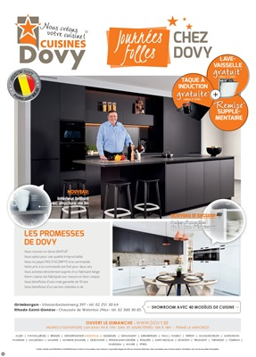 Folder Cuisines Dovy du 01/10/2018 au 31/10/2018 - Maandpromoties