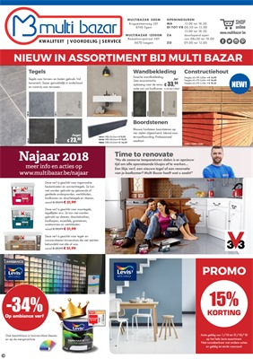 Multi Bazar folder van 01/10/2018 tot 31/10/2018 - Maandpromoties