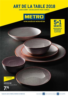Folder Metro du 01/10/2018 au 31/10/2018 - Art de la table
