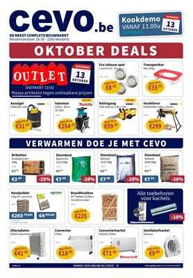 Cevo folder van 11/10/2018 tot 24/10/2018 - Weekpromoties