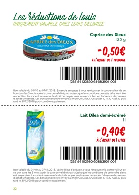 Folder Louis Delhaize du 01/10/2018 au 07/11/2018 - Coupons de réduction