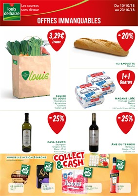 Folder Louis Delhaize du 10/10/2018 au 23/10/2018 - Promotions de la semaine 42