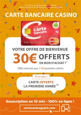 Folder Géant Casino du 01/11/2018 au 18/11/2018 - Carte bancaire casino
