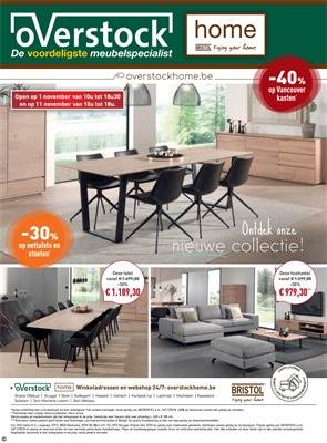 Overstock folder van 28/10/2018 tot 24/11/2018 - Home maandpromoties