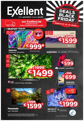 Folder Exellent du 19/11/2018 au 26/11/2018 - Flyer Black Friday