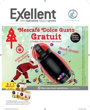 Folder Exellent du 10/12/2018 au 31/12/2018 - Action dolce gusto
