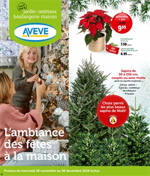 Folder Aveve du 28/11/2018 au 08/12/2018 - Promotions de la semaine