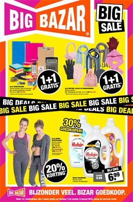Big Bazar folder van 01/01/2019 tot 13/01/2019 - promoties van de week