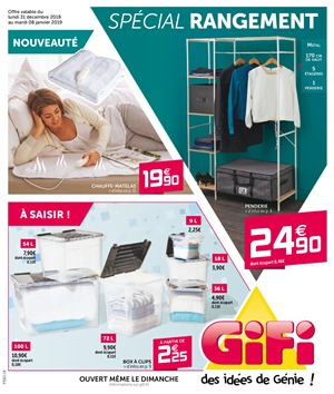 Folder Gifi du 31/12/2018 au 08/01/2019 - Promotions de la semaine