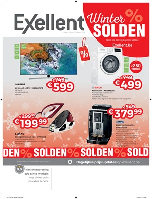 Exellent folder van 03/01/2019 tot 31/01/2019 - Weekpromoties