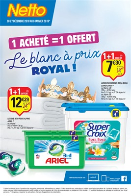 Folder Netto du 27/12/2018 au 06/01/2019 - Promotions du mois