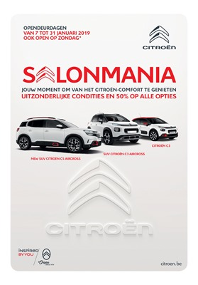 Citroën folder van 07/01/2019 tot 31/01/2019 - Autosalon folder