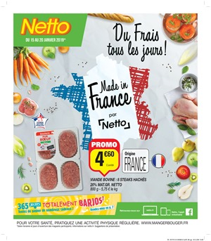 Folder Netto du 15/01/2019 au 20/01/2019 - Promotions de la semaine