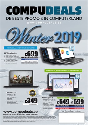 Compudeals folder van 01/02/2019 tot 09/02/2019 - weekpromoties