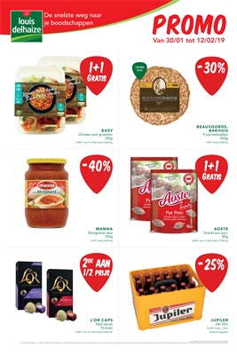 Louis Delhaize folder van 30/01/2019 tot 12/02/2019 - weekpromoties