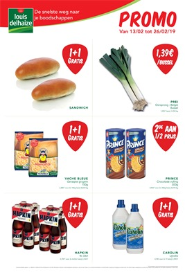 Louis Delhaize folder van 13/02/2019 tot 26/02/2019 - weekpromoties