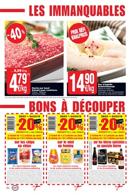Folder Cora du 26/02/2019 au 04/03/2019 - Coupons de réduction