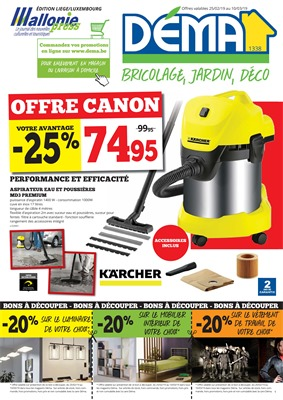 Folder Dema du 25/02/2019 au 10/03/2019 - Promotions de la semaine