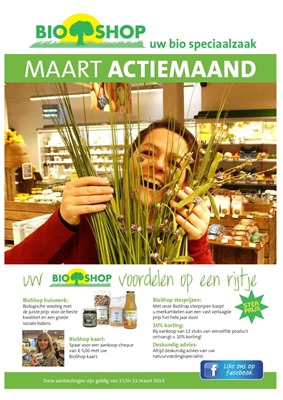 Bio Shop folder van 01/03/2019 tot 31/03/2019 - Maandpromoties