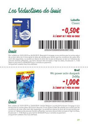 Coupons de réduction