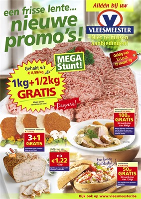 Vleesmeester folder van 13/03/2019 tot 19/03/2019 - weekpromoties