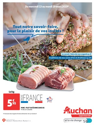Folder Auchan du 13/03/2019 au 19/03/2019 - Promotions de la semaine