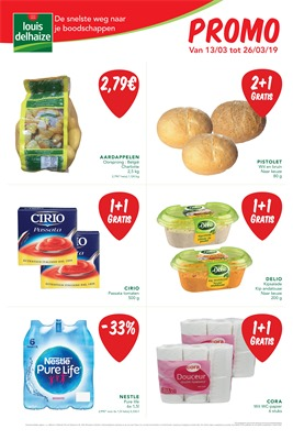 Louis Delhaize folder van 13/03/2019 tot 26/03/2019 - Maandpromoties