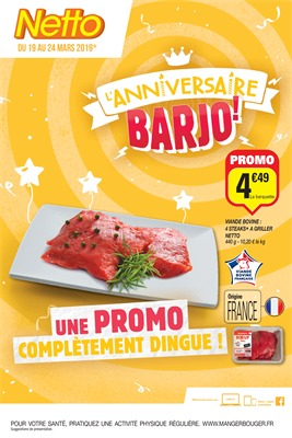 Folder Netto du 19/03/2019 au 24/03/2019 - Promotions de la semaine