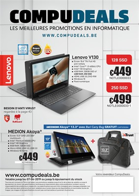 Folder Compudeals du 25/03/2019 au 07/04/2019 - Promotions de la semaine