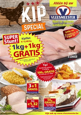 Vleesmeester folder van 27/03/2019 tot 02/04/2019 - Weekpromoties