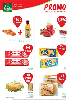 Folder Louis Delhaize du 27/03/2019 au 09/04/2019 - Promotions de la semaine